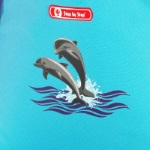 Step by Step Happy Dolphins Motiv Darstellung
