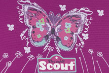 Scout Purple Butterfly Motiv Darstellung