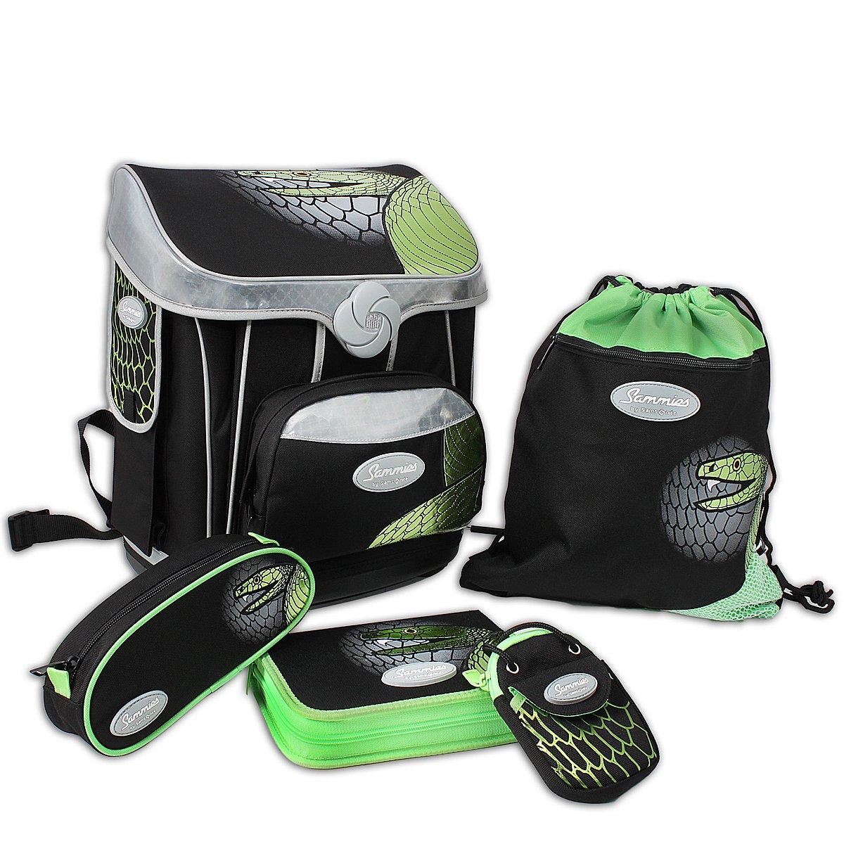 sammies by samsonite premium schulranzen set green mamba. Black Bedroom Furniture Sets. Home Design Ideas