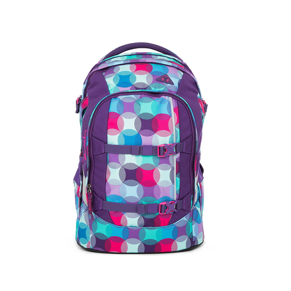 Satch Pack Schulrucksack Hurly Pearly, bunte Punkte