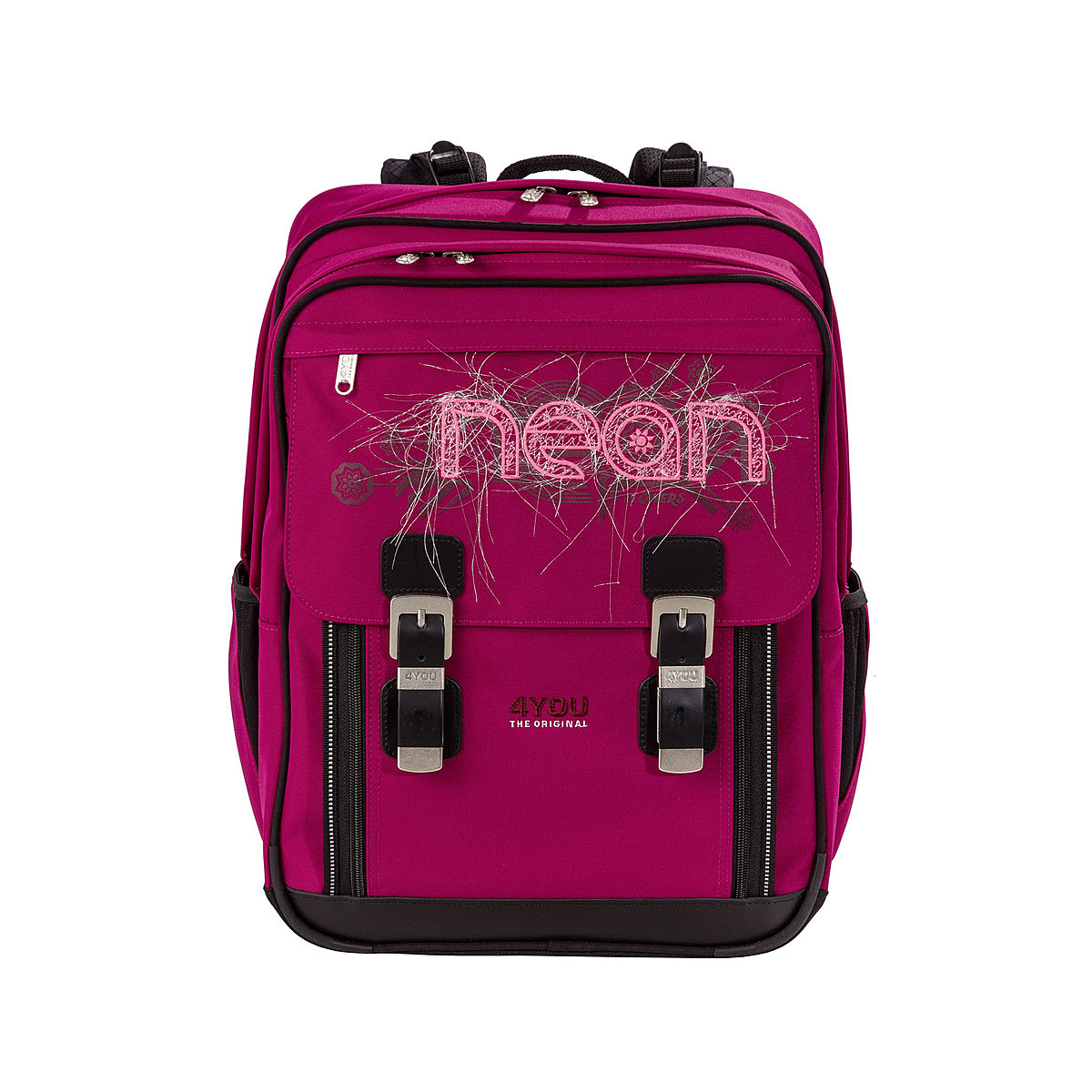 4you schulrucksack classic plus neon 233 m dchen. Black Bedroom Furniture Sets. Home Design Ideas
