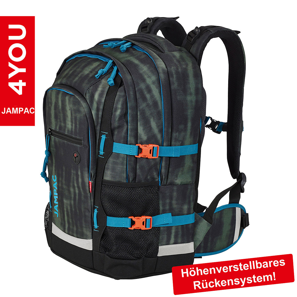 4you schulrucksack jampac lizard 30 liter volumen und laptopfach. Black Bedroom Furniture Sets. Home Design Ideas