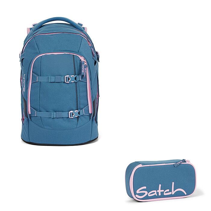 satch Pack Schulranzen Rucksack Schulrucksack Tasche Deep Rose Blau Rosa