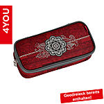 4YOU Pencil Case mit Geodreieck Henna Tatoo, rotes Tribaldekor ansehen