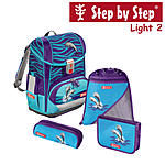 Step by Step Light2 Happy Doplhins, 4 tlg Schulranzen Set ansehen