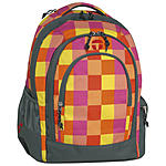 Take it Easy Schulrucksack Berlin Arrow, orange kariert ansehen