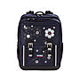 4YOU Schulrucksack Classic Plus Silver Flowers, Farbe 235