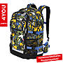 4YOU Schulrucksack Jampac Pineapples, 30L Volumen und Laptopfach