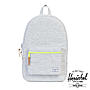 Herschel Settlement Schulrucksack Light Grey Crosshatch Acid Lime Zip