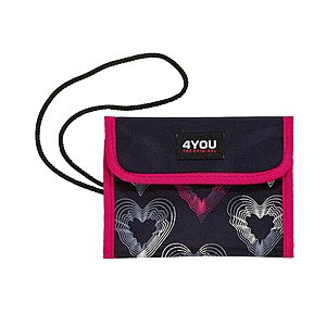4YOU Flash Money Bag 613 Brustbeutel Romance Herzen