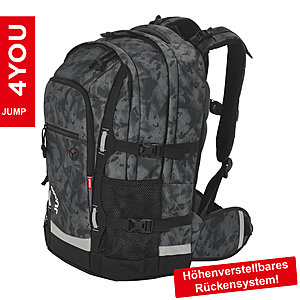 4YOU Jumpac Camou Black Schulrucksack