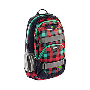 Coocazoo RayDay Rucksack Checky Mint 25 Liter, mit Laptopfach