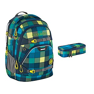 Coocazoo ScaleRale Lime District Schulrucksack Set 2tlg