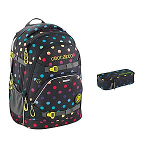 Coocazoo ScaleRale Magic Polka Colorful Schulrucksack Set 2tlg