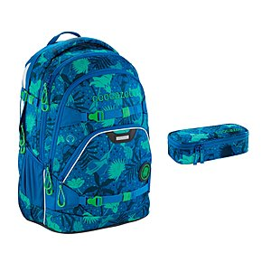 Coocazoo ScaleRale Tropical Blue Schulrucksack Set 2tlg
