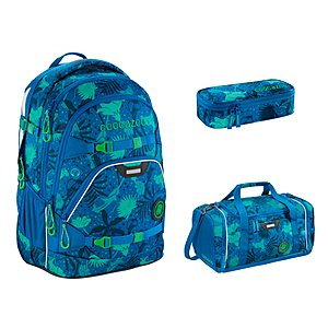 Coocazoo ScaleRale Tropical Blue Schulrucksack Set 3tlg