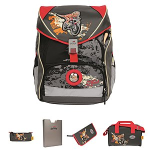 DerDieDas Ergoflex XL 5tlgs Schulrucksack Set Dino on the Road