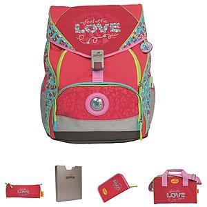 Bestbewerteter Rabatt hohe Qualitätsgarantie viele Stile DerDieDas Ergoflex XL 5tlgs Schulrucksack Set Love, 25,5 L