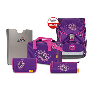 DerDieDas Ergoflex XL Purple Princess Schulranzenset 5 tlg.