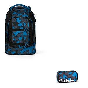 Schulrucksaecke - Satch Pack Blue Triangle Schulrucksack Set 2 tlg. - Onlineshop Schulranzen.net