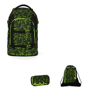 Schulrucksaecke - Satch Pack Green Bermuda Schulrucksackset 3 teilig - Onlineshop Schulranzen.net