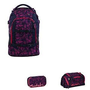 Satch Pack Pink Bermuda Schulrucksackset 3 teilig