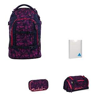 Satch Pack Pink Bermuda Schulrucksackset 4 teilig