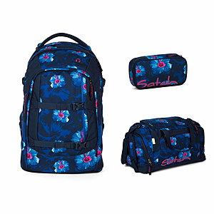 Satch Pack Waikiki Blue Schulrucksack Set 3tlg