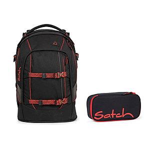 Schulrucksaecke - Satch Pack Black Volcano Schulrucksack Set 2tlg - Onlineshop Schulranzen.net
