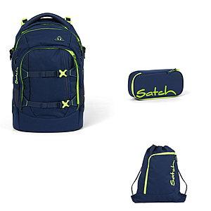 Schulrucksaecke - Satch Pack Toxic Yellow 3tlg Schulrucksack Set - Onlineshop Schulranzen.net