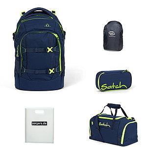 Schulrucksaecke - Satch Pack Toxic Yellow 5tlg Schulrucksack Set - Onlineshop Schulranzen.net