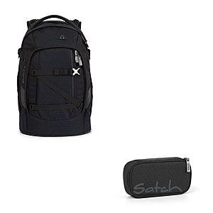 Schulrucksaecke - Satch Pack Carbon Black 2tlg. Schulrucksack Set - Onlineshop Schulranzen.net