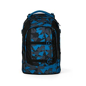 Satch Pack Schulrucksack Blue Triangle, blaue Dreiecke ER500217