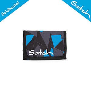 Satch Geldbörse Blue Triangle, Portemonnaie blau schw. Dreiecken