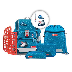 Schulranzen - Step by Step 2in1 Plus Angry Shark Schulranzen Set - Onlineshop Schulranzen.net