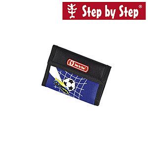 Step by Step Brustbeutel Top Soccer, blau schwarz mit Fußballmotiv