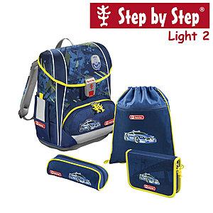 Step by Step Light2 Stadtpolzei, 4 tlg Schulranzen Set
