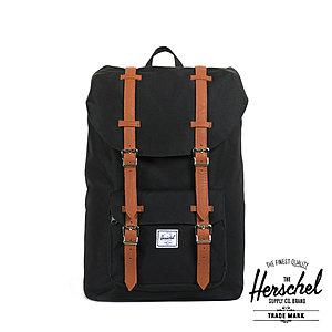 Herschel 17 Liter Rucksack Little America Mid-Volumen, Black bei Schulranzen