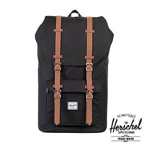 Herschel 25 Liter Rucksack Little America Black, mit Laptopfach