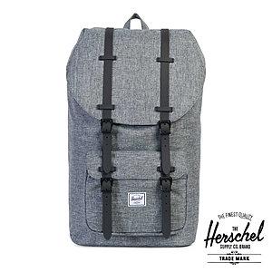 Herschel Rucksack »Heritage« Grau Schulrucksack Laptopfach Raven Black Rubber