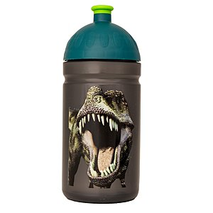 Isybe Trinkflasche grau 0,5l Dino mit sorgers Logo