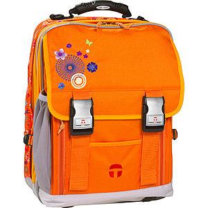 Schulrucksack Take it Easy London orange Flower