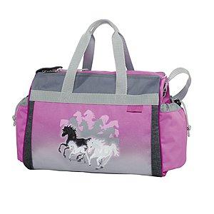 Sporttaschen - McNeill Sporttasche mit 20 Liter Volumen, Spirit lila Pferde - Onlineshop Schulranzen.net
