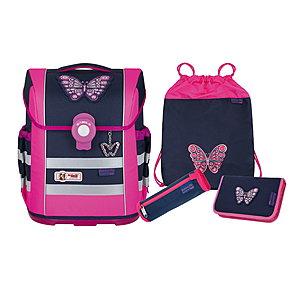 Schulranzen - McNeill Ergo Mac DIN Butterfly Schulranzen Set - Onlineshop Schulranzen.net