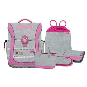 McNeill Ergo Light Pure Flamingo 5tlg Schulranzen Set