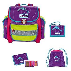 Schultasche Buddy Set 4tlg. Delfin Emotion - Mädchen Motiv