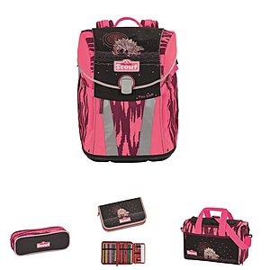 Scout Schulrucksack Sunny Pink Dino, 4 teiliges...