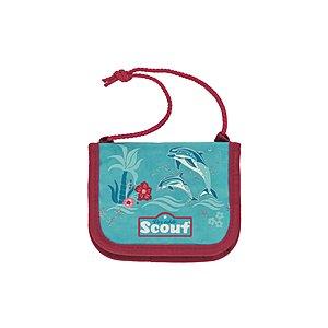 Scout Brustbeutel III Happy Dolphins, Kindergeldbörse zum umhängen