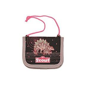 Scout Brustbeutel III Pink Dino, Kindergeldbörse zum umhängen
