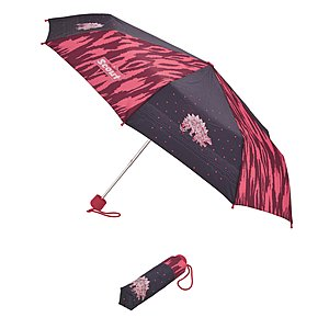 Scout Kinder Taschenschirm Pink Dino, Regenschirm Dinosauriermotiv